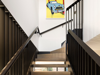 East Gallery House, Brighton, architect designed, timber & steel feature staircase,  Extension, Renovation