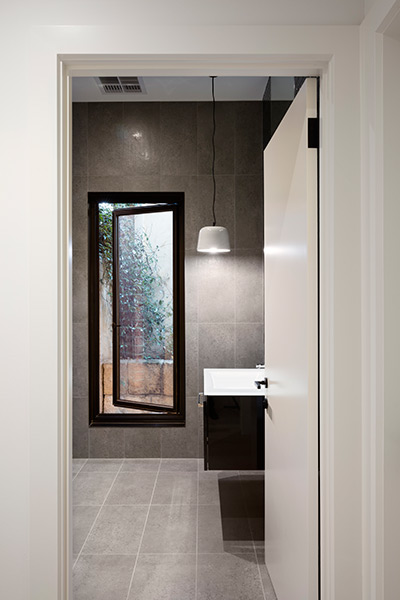East Gallery House, Brighton, architect designed, ceramic pendant light, bathroom,  Extension, Renovation