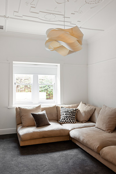 East Gallery House, Brighton, architect designed, art deco, pendant light, Extension,  Renovation