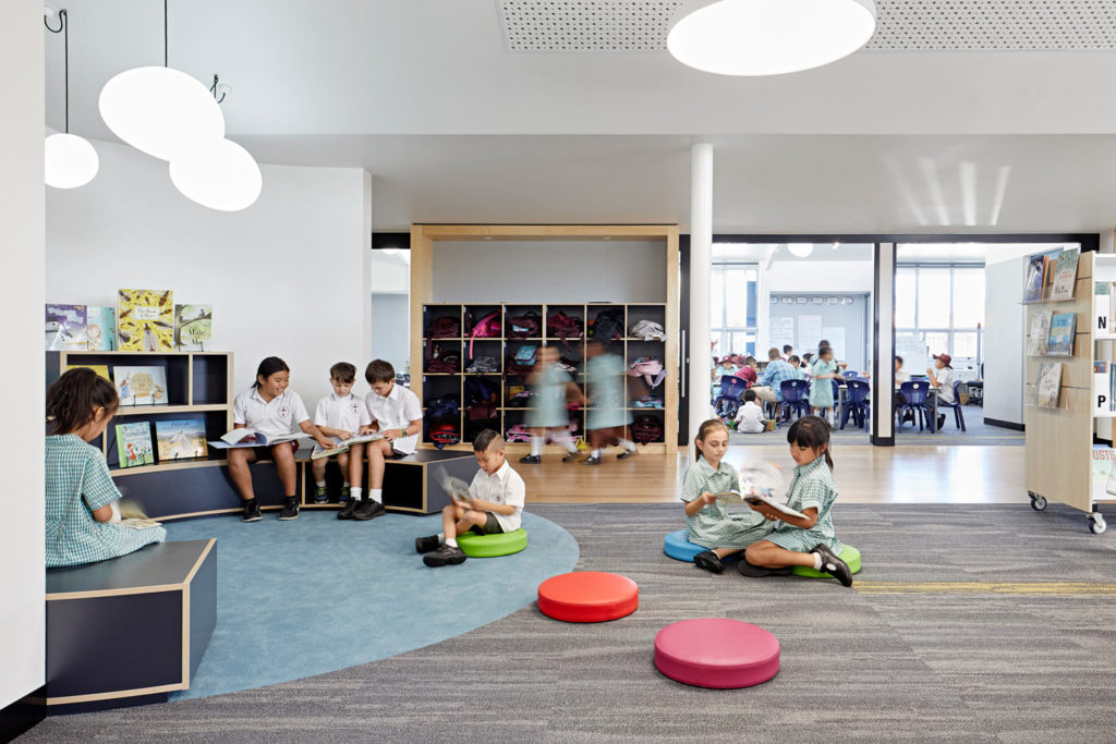 Catholic School Learning Environments Reading Nooks Library for Schools