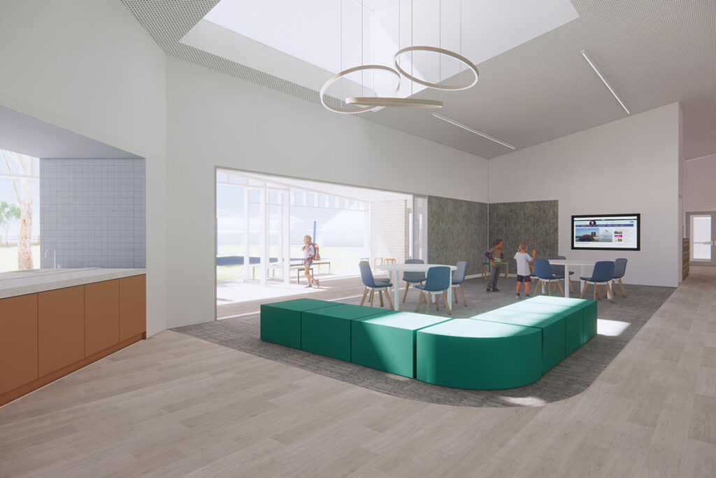 St Mary's College Seymour new classroom building catholic education central gathering space