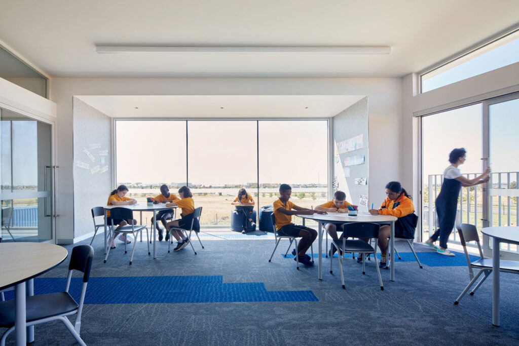 eductation catholic St Clare's learning environment school design ROAM Architects large group learning spaces