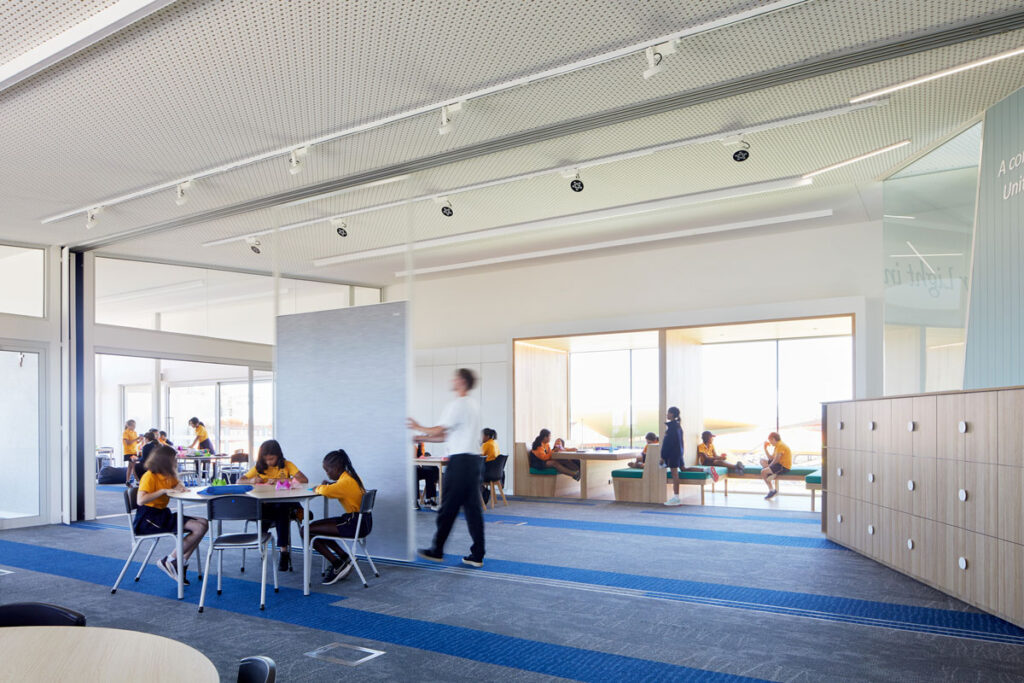 eductation catholic St Clare's learning environment school design ROAM Architects flexible screens
