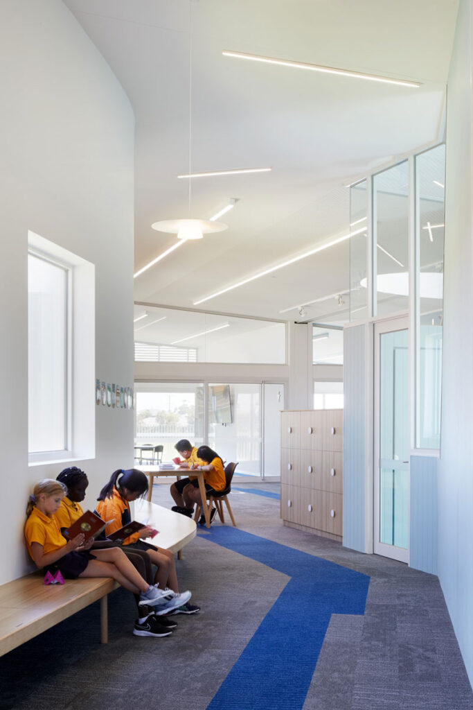 eductation catholic St Clare's learning environment school design ROAM Architects study space seating