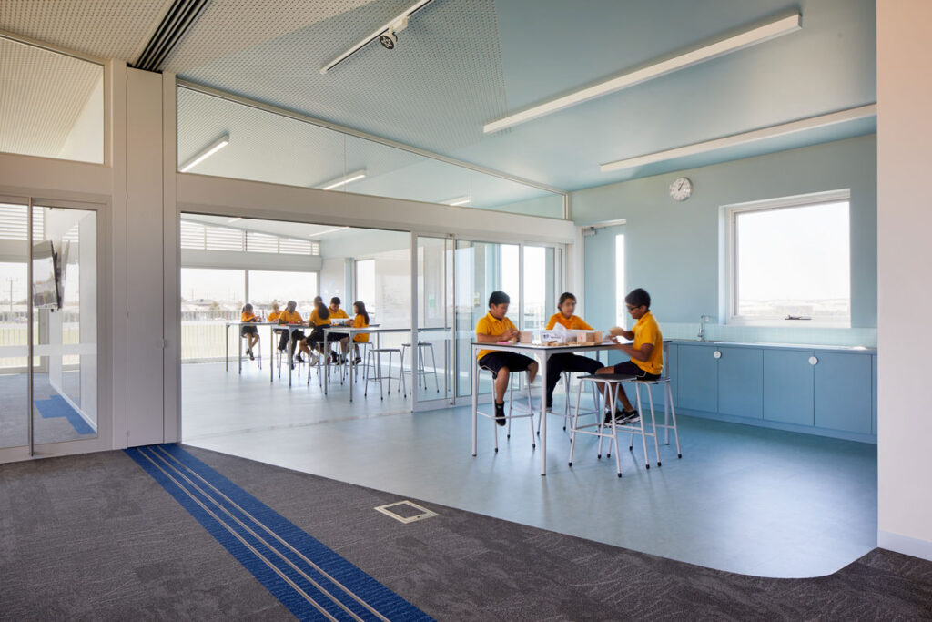 eductation catholic St Clare's learning environment school design ROAM Architects STEAM space