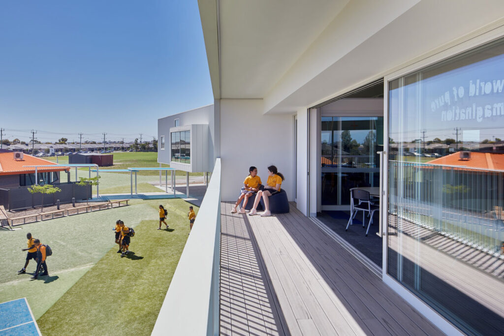 eductation catholic St Clare's learning environment school design ROAM Architects learning deck