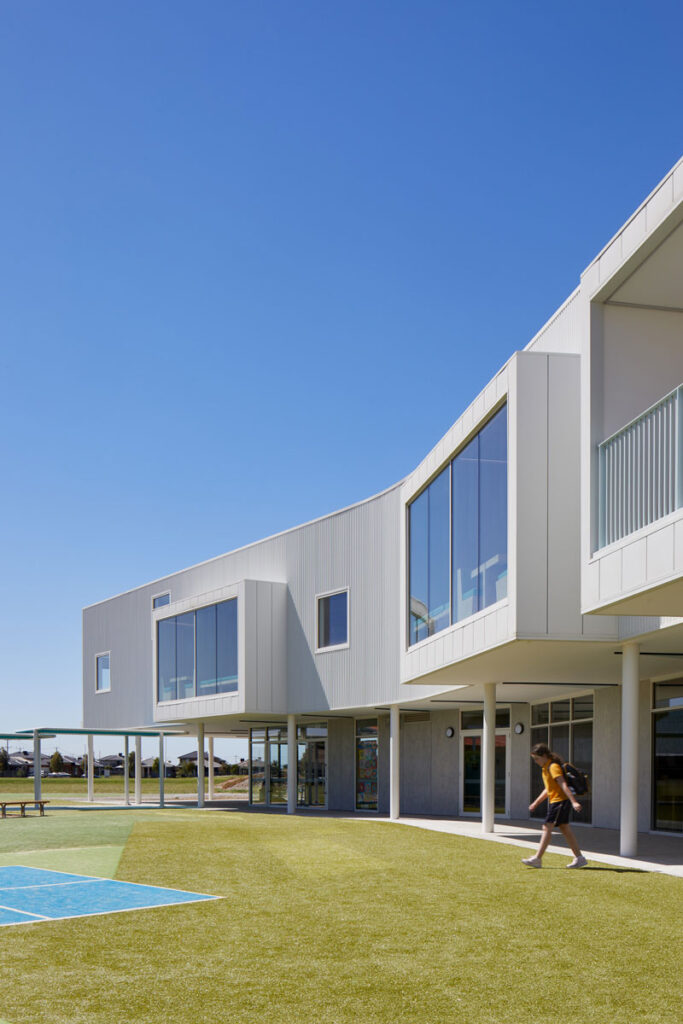 eductation catholic St Clare's learning environment school design ROAM Architects external facade detail colorbond