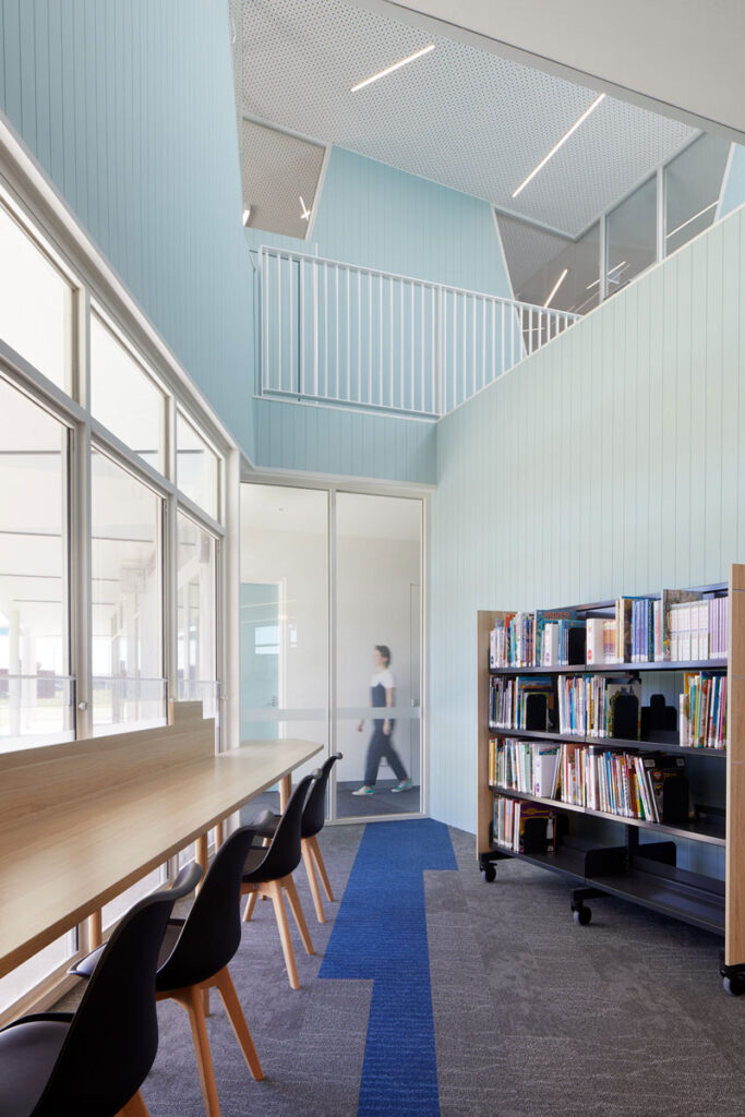 eductation catholic St Clare's learning environment school design ROAM Architects library nook