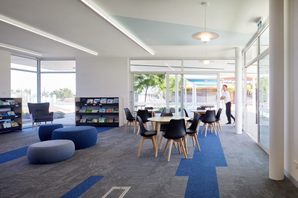 eductation catholic St Clare's learning environment school design ROAM Architects library