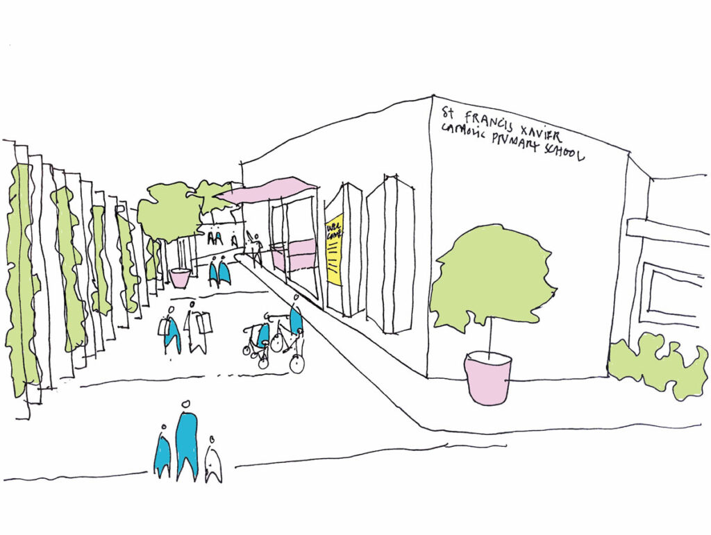 ROAM Architects  masterplan learning environments entrance welcome zone