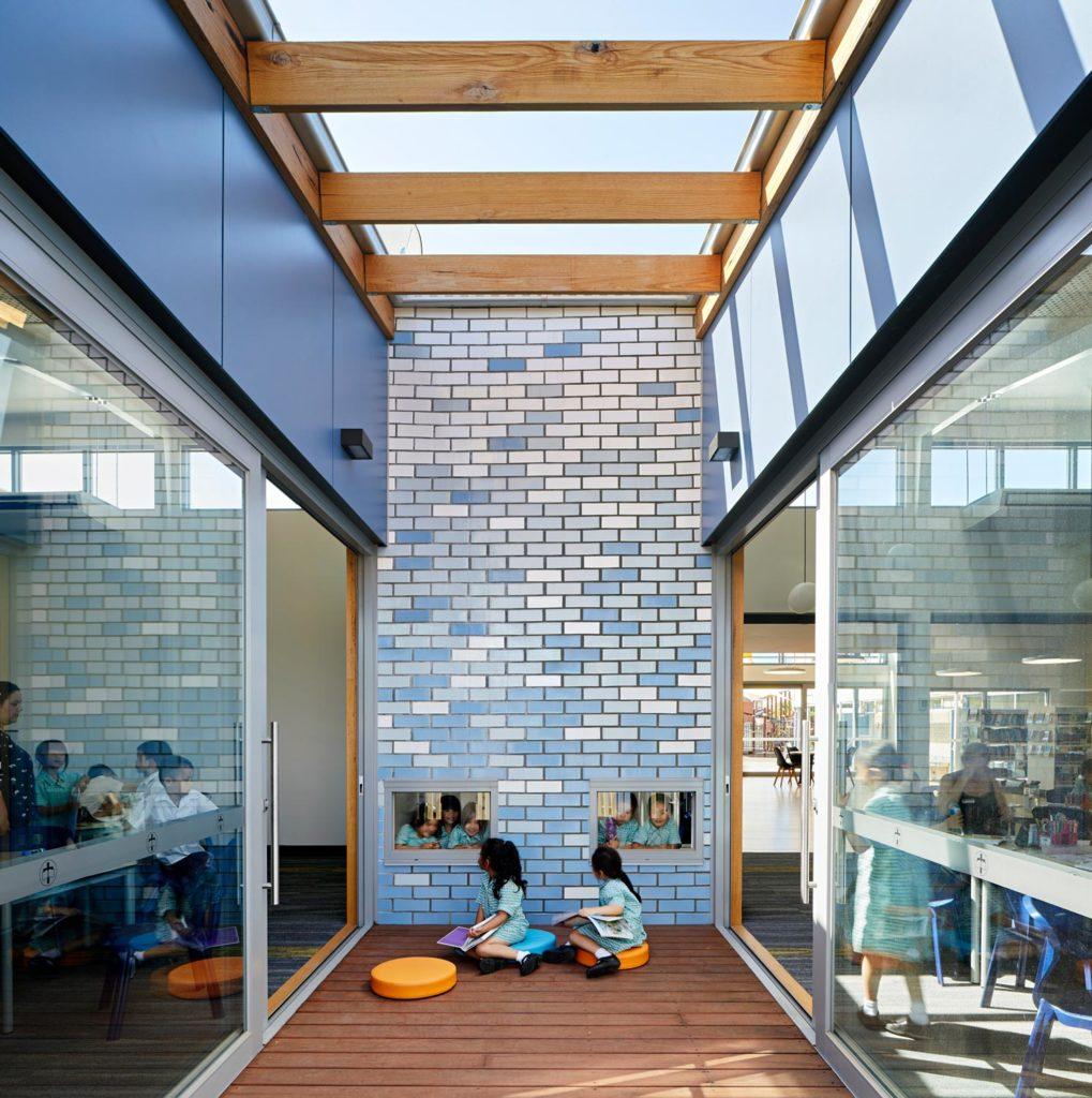 Catholic School Learning Environments Architecture Learning Decks Indoor Outdoor Classroom Glazed Bricks